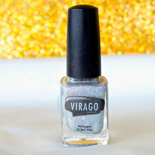 "Allure is one of those holos you don't want to take off. Did I mention it's smooth as a baby's ""you-know-what""? Allure is described as, ""Inspired by 1940s Old Hollywood, Allure does not disappoint. It's like having a vintage sliver sequenced chiffon dress in a bottle. The holo in this lacquer is so intense that all eyes will be on your nails."" Opacity: Fully opaque in approximately 2-3 coats."
