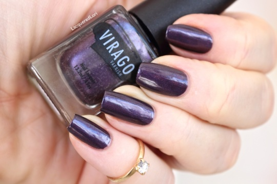 Majestic is a shimmery metallic eggplant and opaque in 2 thin coats. It's sure to be your next lemming!
