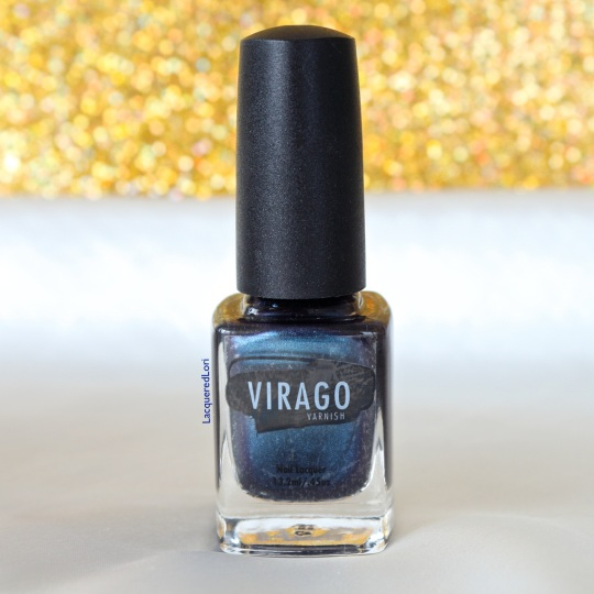 "One of my faves of the bunch. Amazing on my nails! Charisma is described as, ""If a vintage navy blue mesh silk chiffon dress was poured into a bottle it would be Charisma. Charisma is a gorgeous deep-navy blue nail lacquer that has glamour written all over it."" Finish: Metallic, Semi-matte Opacity: Opaque in 1-2 coats"
