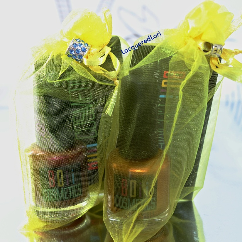 """I love the packaging of these """"Girls""""~ Cute little fobs on these shimmery bags!"""