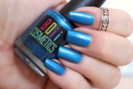 English Girl is a fabulous medium blue shimmer/metallic 1-2 coater, and the formula is like the others, perfection.