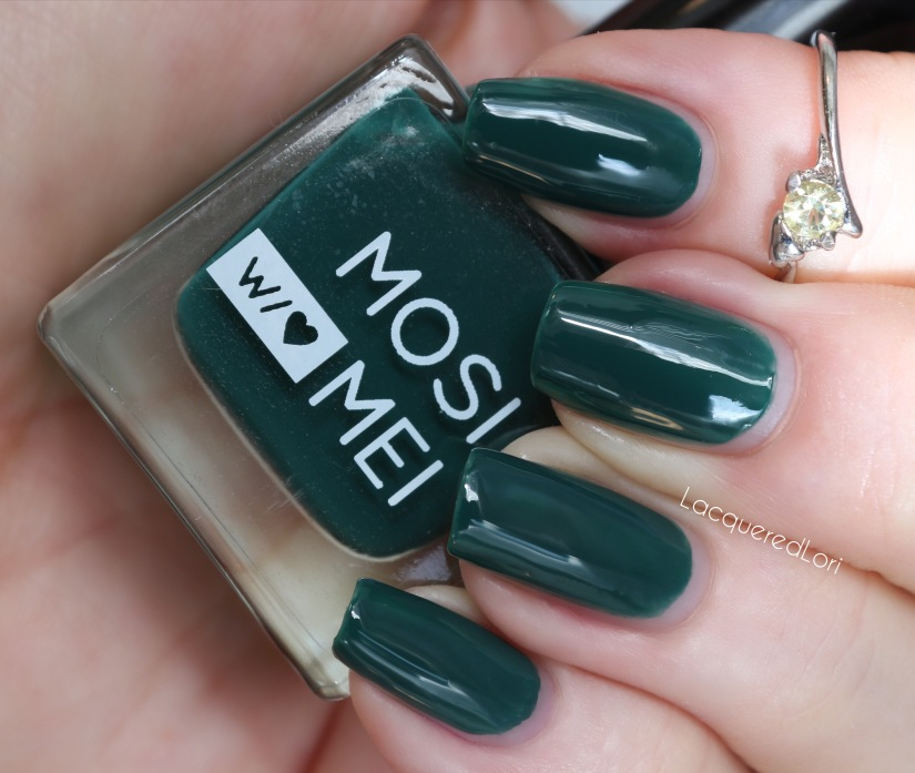Profound is a super glossy pine green creme, two coats, amazing formula.