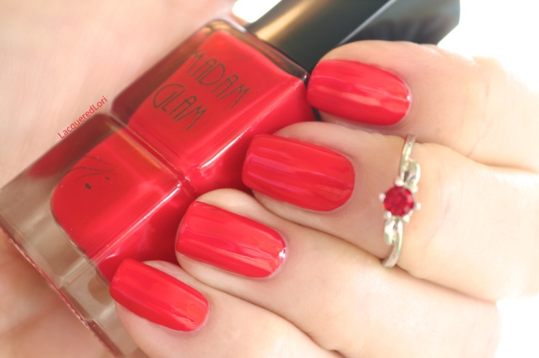 Original Sin is a classic red. As in, little red dress red! It dries super glossy I think because it's nearly a jelly, but not quite.