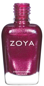 BRITTA is a berry metallic with a red and purple, fuchsia flash.