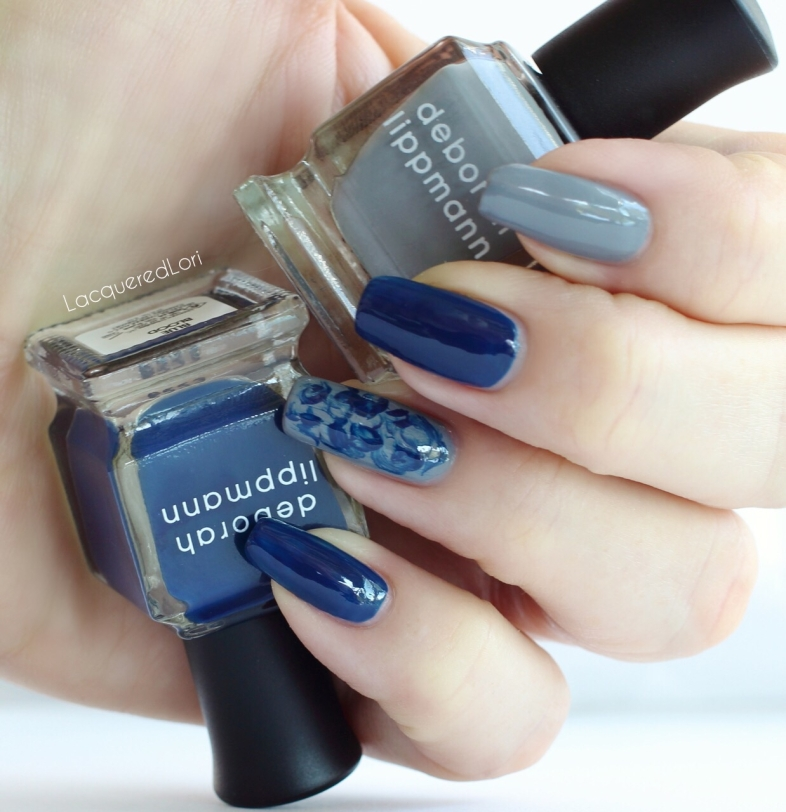 Blue blood was a perfect formula, 2 coats. Amazing blue creme! Same with the grey creme, King of the Road. I thought these two were made to be together.