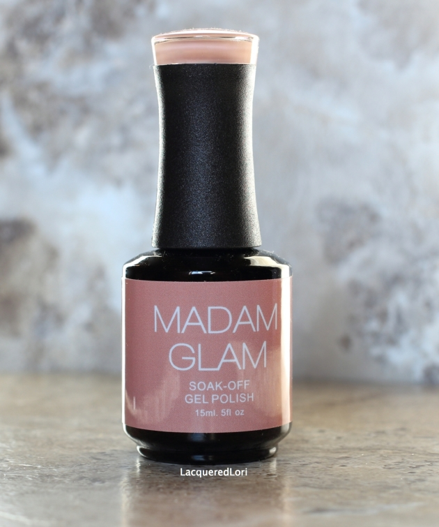 Madam Glam Soak-Off Gel Polishes are high quality professional grade and the formulas are consistently dependable. Over and Over is a nude creme with a hint of blush.