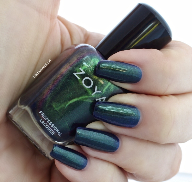 Olivera in 1 coat! Love all the color shifts here. OLIVERA (ZP872) green flip: A spellbinding color-flip metallic with an indigo base and a green and purple shift.