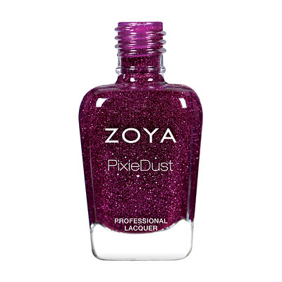 LORNA (ZP853) plum pixie: A luscious berry with a sugary sparkle in the exclusive Zoya PixieDust Matte Sparkle formula.