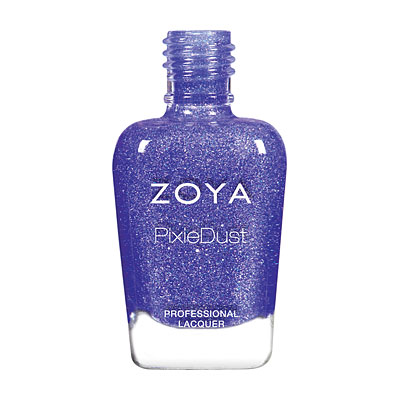 ALICE (ZP874) periwinkle pixie: A captivating periwinkle with magenta and blue sparkles in the exclusive Zoya PixieDust Matte Sparkle formula