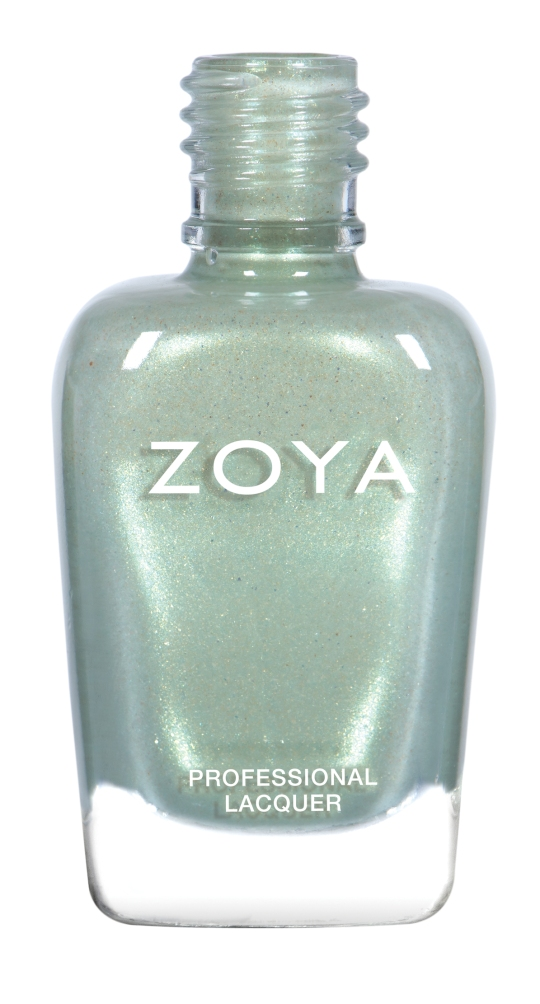 Lacey (ZP890): a light dewy green micro-sparkle.