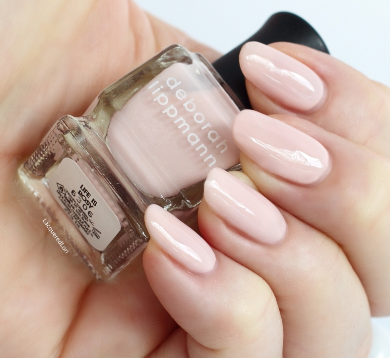 Life is Rosy is a soft blush pink, you'll need three coats for full opacity. My fave of the set. This color is gorgeous!